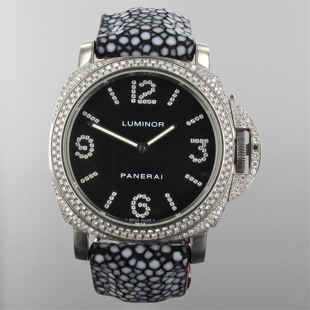 Panerai Luminor Base with diamonds