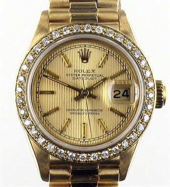 Rolex Date Just Diamond Bezel