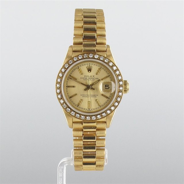 Rolex Date Just Diamond Bezel