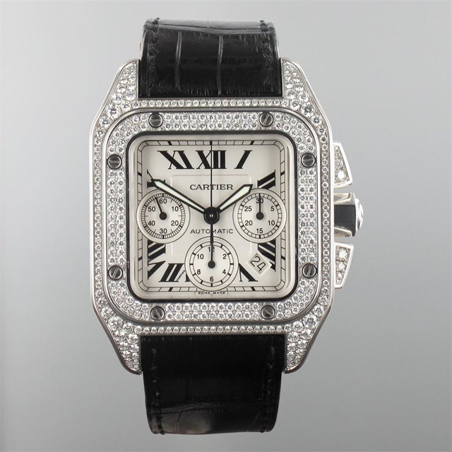 Cartier Cartier Santos 100 XL Chronograph Factory Diamond Set