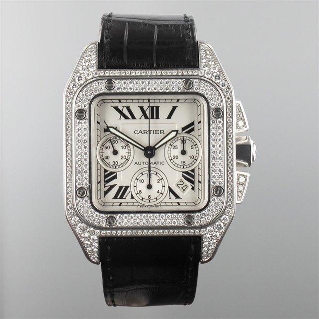 Cartier Cartier Santos 100 XL Chronograph Factory Diamond Set