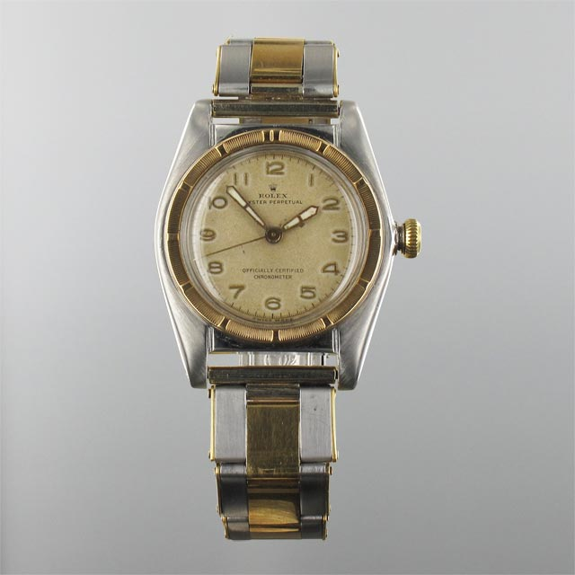 Rolex Bubble Back Bi Metal