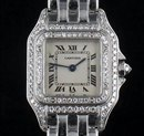 Panthere White Gold Diamond Bezel Cartier