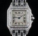 Panthere White Gold Diamond Bezel Cartier