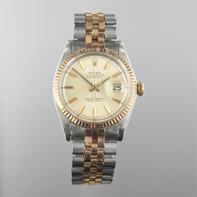 Rolex Date Just SS Rose Gold