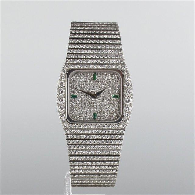 Patek Philippe Diamond Set Cushion Case Bracelet Watch