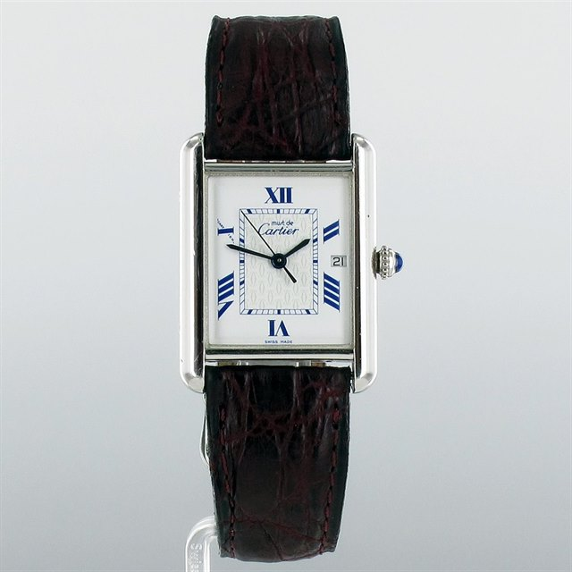 Cartier Tank Must De Sterling Silver Case