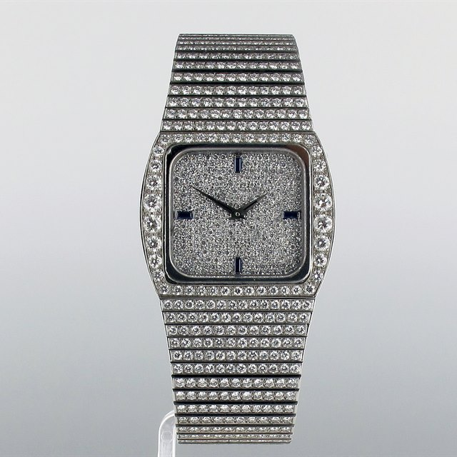 Patek Philippe Diamond Set Cushion Case Bracelet Watch